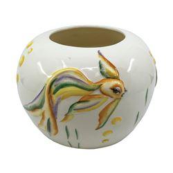 Fantasia Vernon Kilns Ceramic Fishbowl Style Vase.