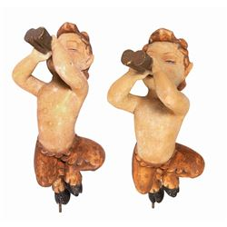 Pair of Fantasia Faun Department Store Display Figures.
