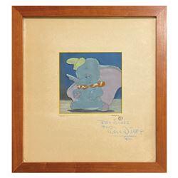 Walt Disney Signed Dumbo Original Production Cel.