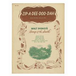 "The Song of the South ""Zip-A-Dee-Doo-Dah"" Sheet Music."