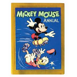 Walt Disney Signed Mickey Mouse Annual.