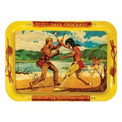 Davy Crockett Tin TV Tray.
