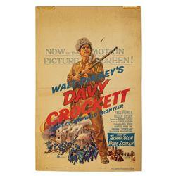 Davy Crockett King of the Wild Frontier Window Card.