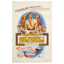 Davy Crockett and the River Pirates One Sheet Poster.
