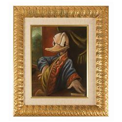 Original Donald Duck Painting from Disneyland TV Show.