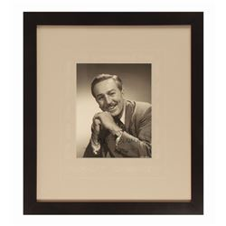 Walt Disney Signed Studio Photograph.