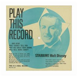 Walt Disney and Mars Candy Promotional Record.