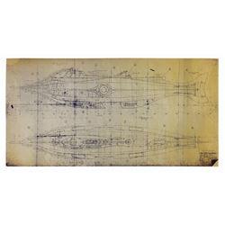 20,000 Leagues Under the Sea Nautilus Blueprint.