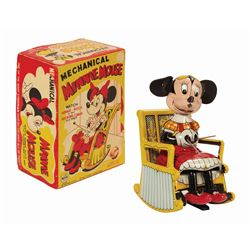 Mechanical Minnie Mouse Wind-Up Tin Toy.