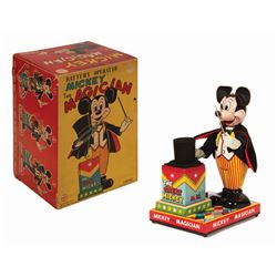 Mickey Mouse The Magician Tin Toy.