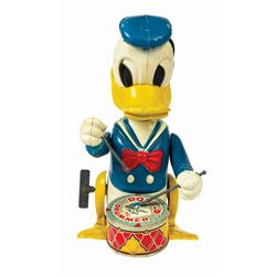 Disney Donald the Drummer Wind-Up Tin Toy.