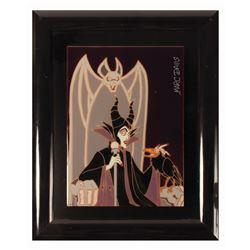 Marc Davis Signed Maleficent Artist Proof Ceramic Tile.