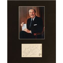 Walt Disney Autographed Mickey Mouse Stationery.