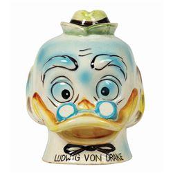 Ludwig Von Drake Ceramic Bank.