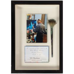 Peter Ellenshaw Framed Paintbrush.