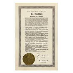 Resolution Document on Walt Disney's Death.