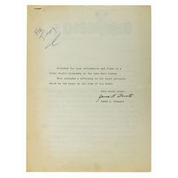 Studio Biography on the Late Walt Disney.