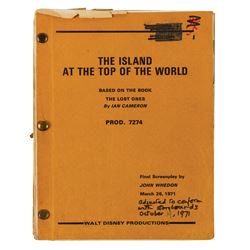 Island at the Top of the World Hand-Written Script.