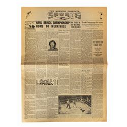 The World's Greatest Athlete Newspaper Prop.