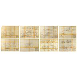 Set of (8) The Apple Dumpling Gang Set Design Prints.