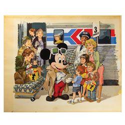 Mickey Mouse's 50th Birthday Original Painting.