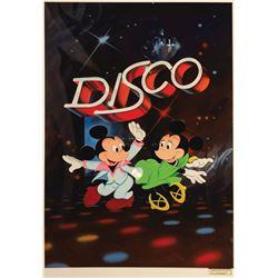 Original Mickey Mouse Disco Theater Illustration Art.