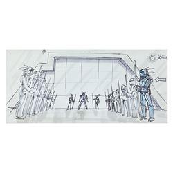 Original Tron Storyboard Panel.