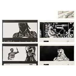 Tron Production Effects Cels, Photostats, & Storyboard.