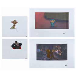 Set of (4) The Great Mouse Detective Production Cels.