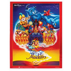 Aladdin Voice Actors Signed Poster.