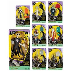Collection of (8) The Nightmare Before Christmas Toys.
