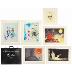 Set of (6) The Nightmare Before Christmas Giclees.