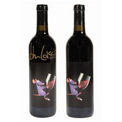 Pair of John Lasseter Ratatouille Wine Crew Gifts.