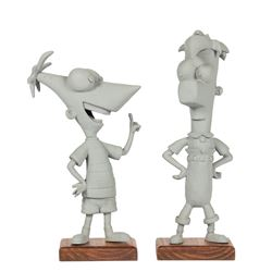 Phineas and Ferb Character Maquettes.