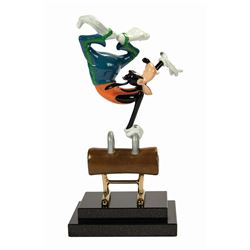 Goofy on Pommel Horse Bronze Sculpture Prototype.