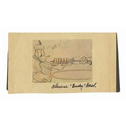 Clarence Nash Signed Donald Duck Storyboard Print.
