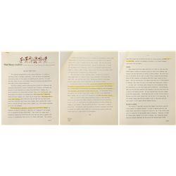 """The Walt Disney Studio"" Disney Archives Packet."