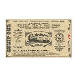 Ward Kimball Grizzly Flats Railroad Ticket.