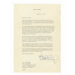 Walt Disney Signed Letter Regarding Disneyland Attractions.