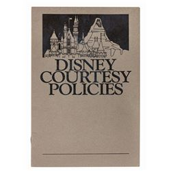 Disney Courtesy Policies Booklet.