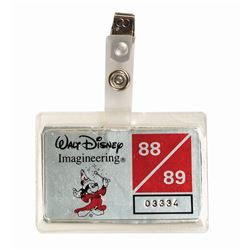 Walt Disney Imagineering 1988-89 Security Badge.