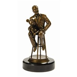 45 Year Service Award Walt & Mickey Bronze Sculpture.