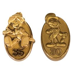 Pair of Disneyland Cast Member Anniversary Pins.