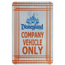 Disneyland Company Vehicle Only.