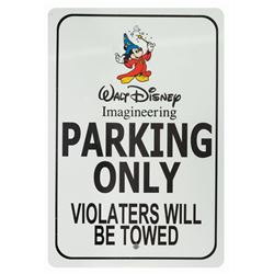 Imagineering Only Parking Sign.