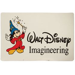 Walt Disney Imagineering Vehicle Door Sign.