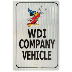 Walt Disney Imagineering Company Vehicle Parking Sign.