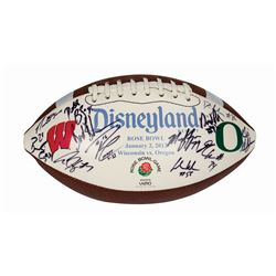 Wisconsin vs. Oregon Signed Rose Bowl Football.