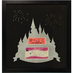 Walt Disney Signed Disneyland Envelope with Ticket.