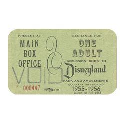1955 Main Gate Admission Exchange Pass.